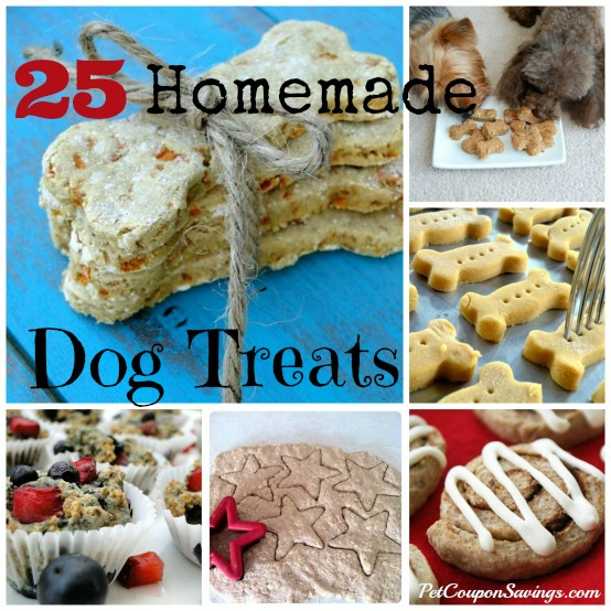 Homemade Dog Treats http://petcouponsavings.com/25-homemade-dog-treats/