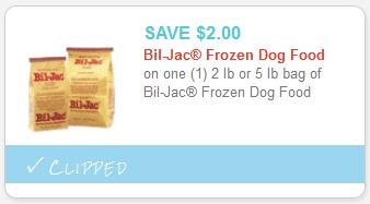Bil Jac Frozen Dog Food Coupon