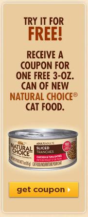 Free Natural Choice Cat Food Sample with Coupon