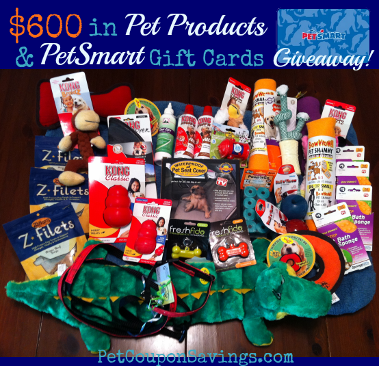 Win $600 in Pet Products and PetSmart Gift Cards at PetCouponSavings.com!