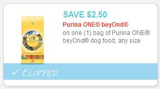Purina ONE Beyond Dog Food Coupon