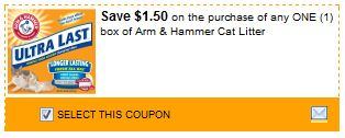 Arm and Hammer Cat Litter Coupon