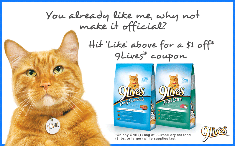 9 Lives Cat Food Coupon