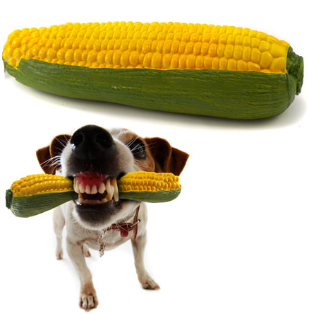 Corn Cob Squeaky Dog Toy
