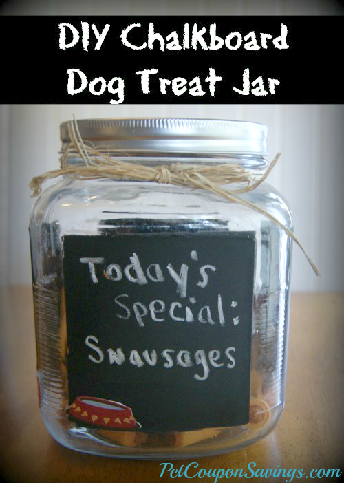 DIY Chalkboard Dog Treat Jar