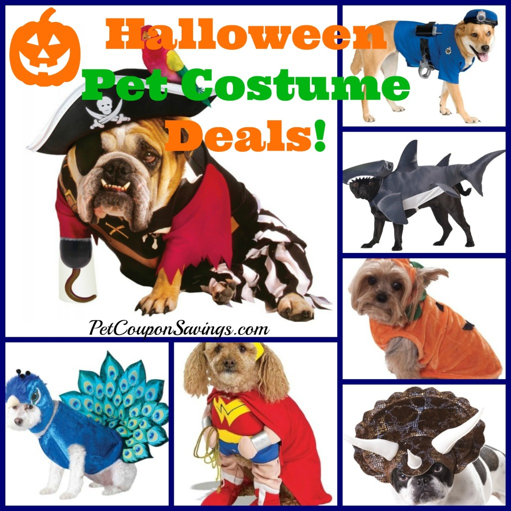 halloween pet costume deals