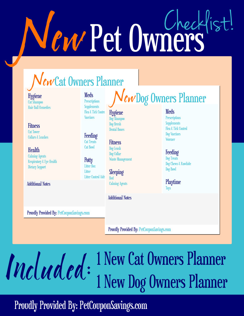 Free Printables- New Pet Owners Planner