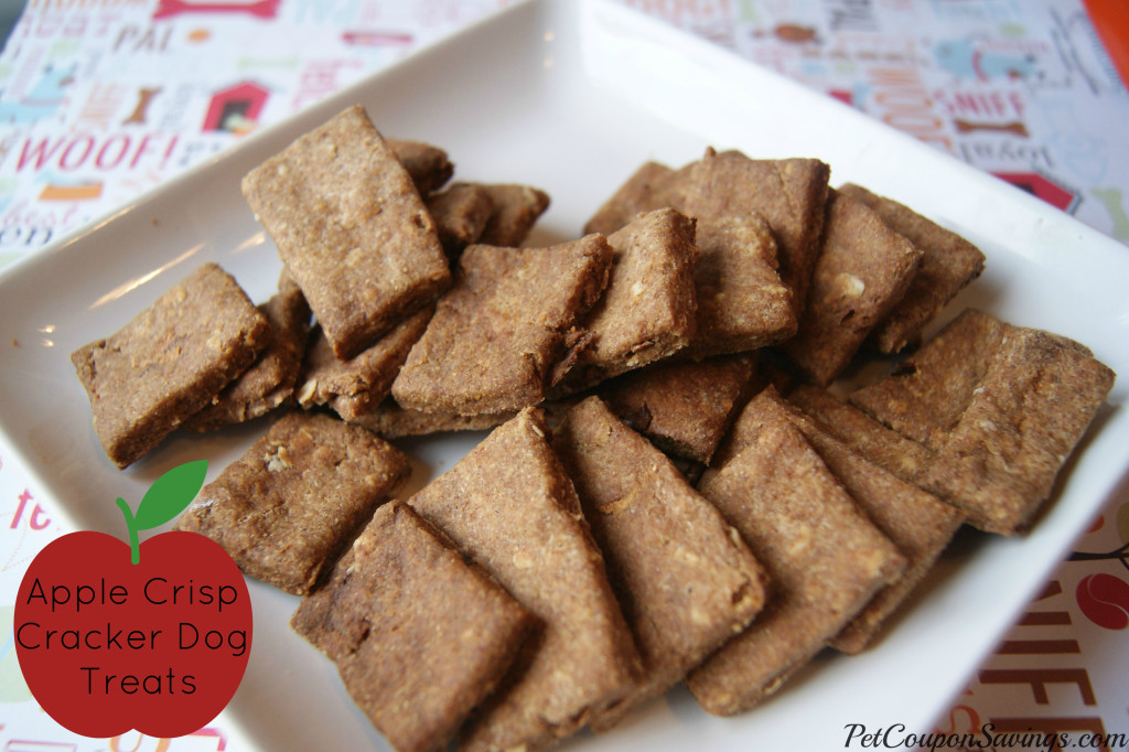 Homemade Apple Crisp Cracker Dog Treats