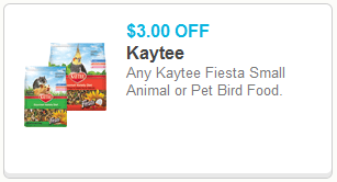 Kaytee Fiesta Bird Food or Small Animal Coupon