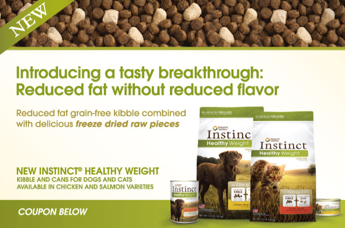 Nature's Variety Instinct Healthy Weight Coupons