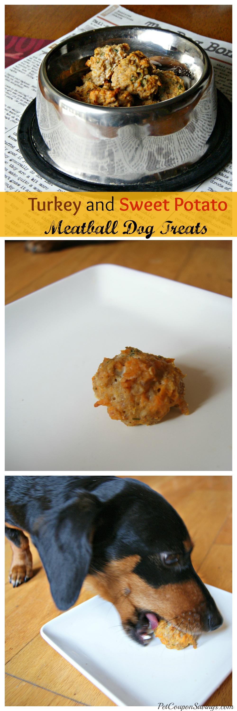 Easy Homemade Turkey and Sweet Potato Meatball Dog Treats