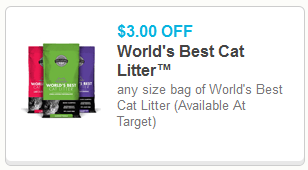 3 Off World S Best Cat Litter Printable Coupon Pet Coupon Savings