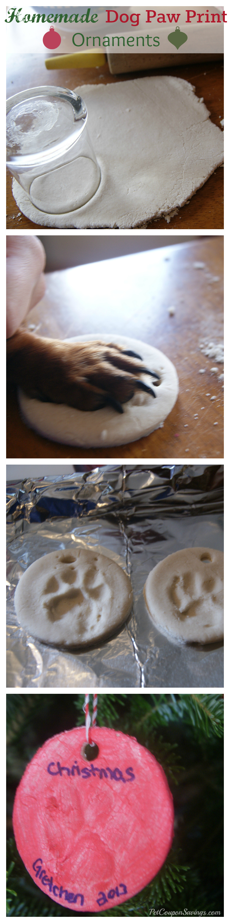 DIY Homemade Dog Paw Print Ornaments