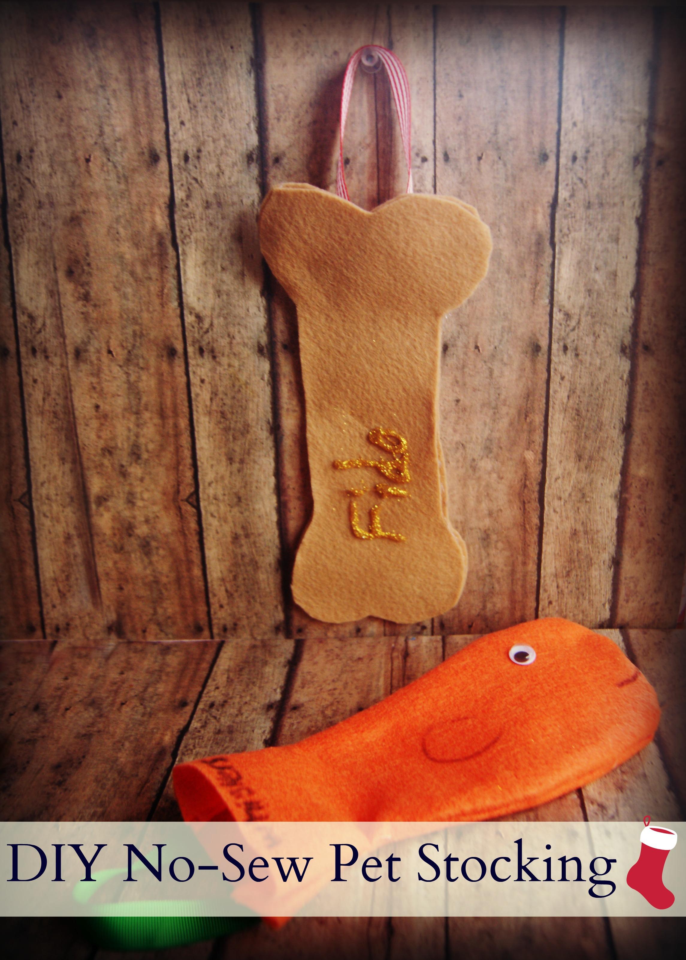 DIY No-Sew Pet Stocking