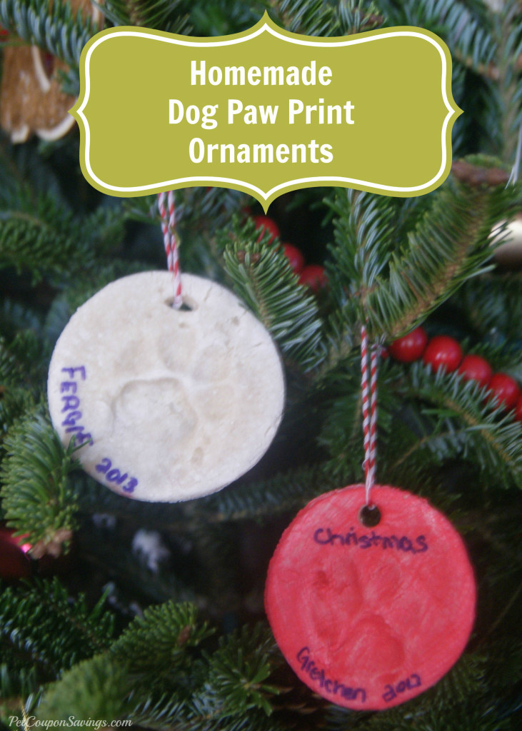 Easy Homemade Dog Paw Print Ornaments