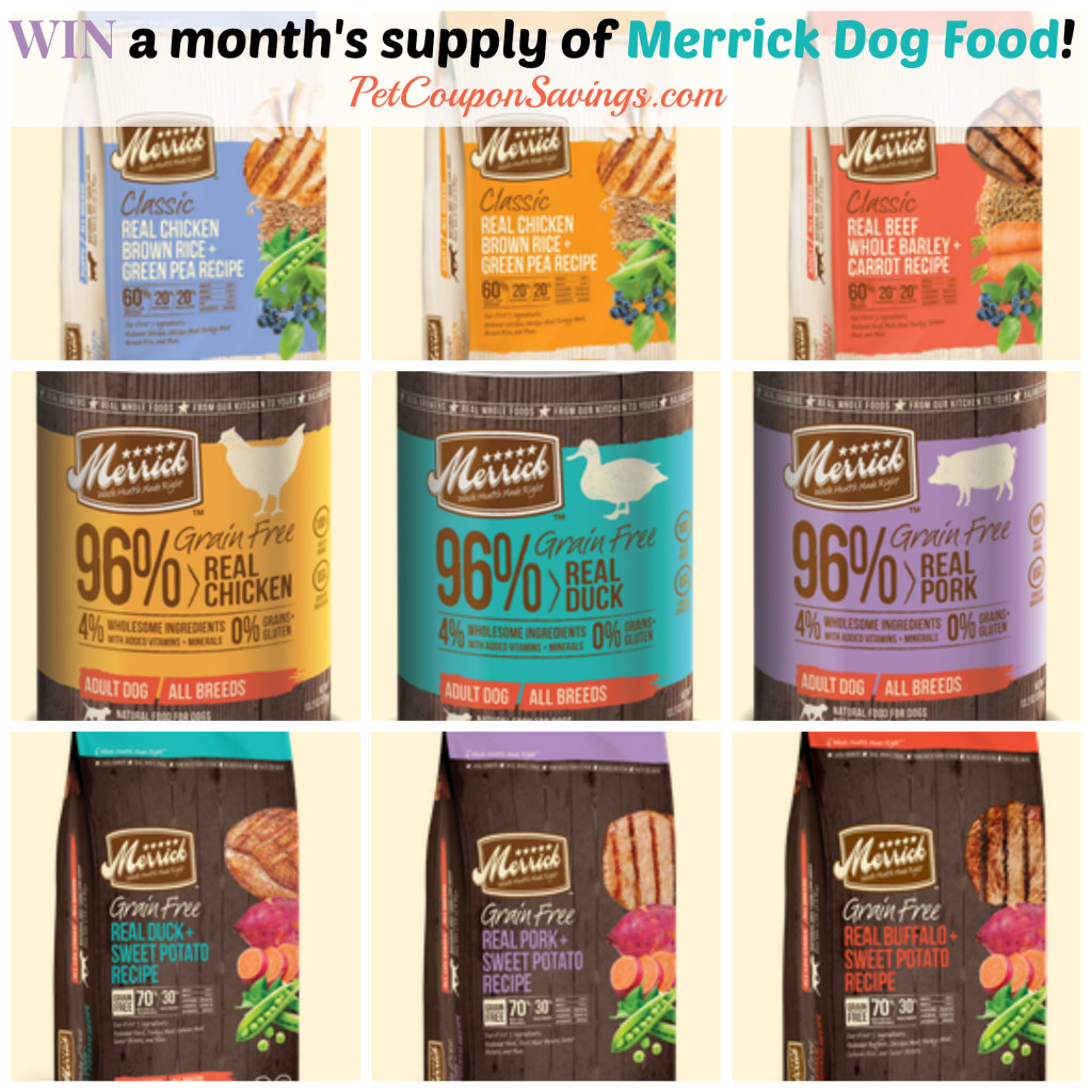 Merrick Dog Food Giveaway