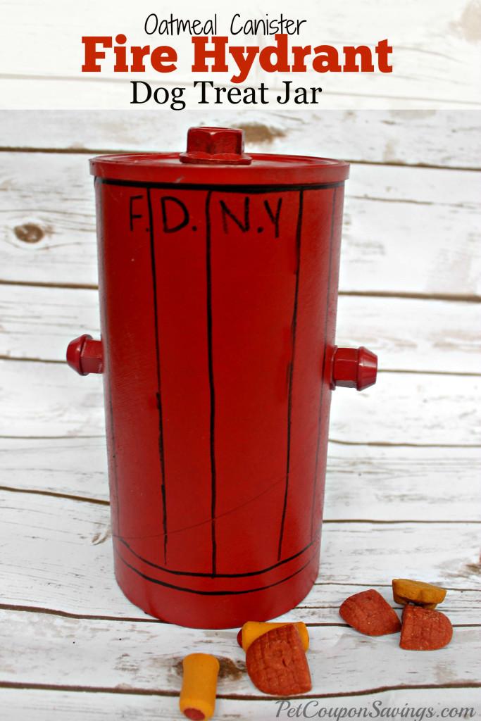 DIY Fire Hydrant Dog Treat Jar