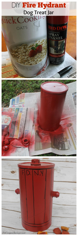 Easy DIY Fire Hydrant Dog Treat Jar