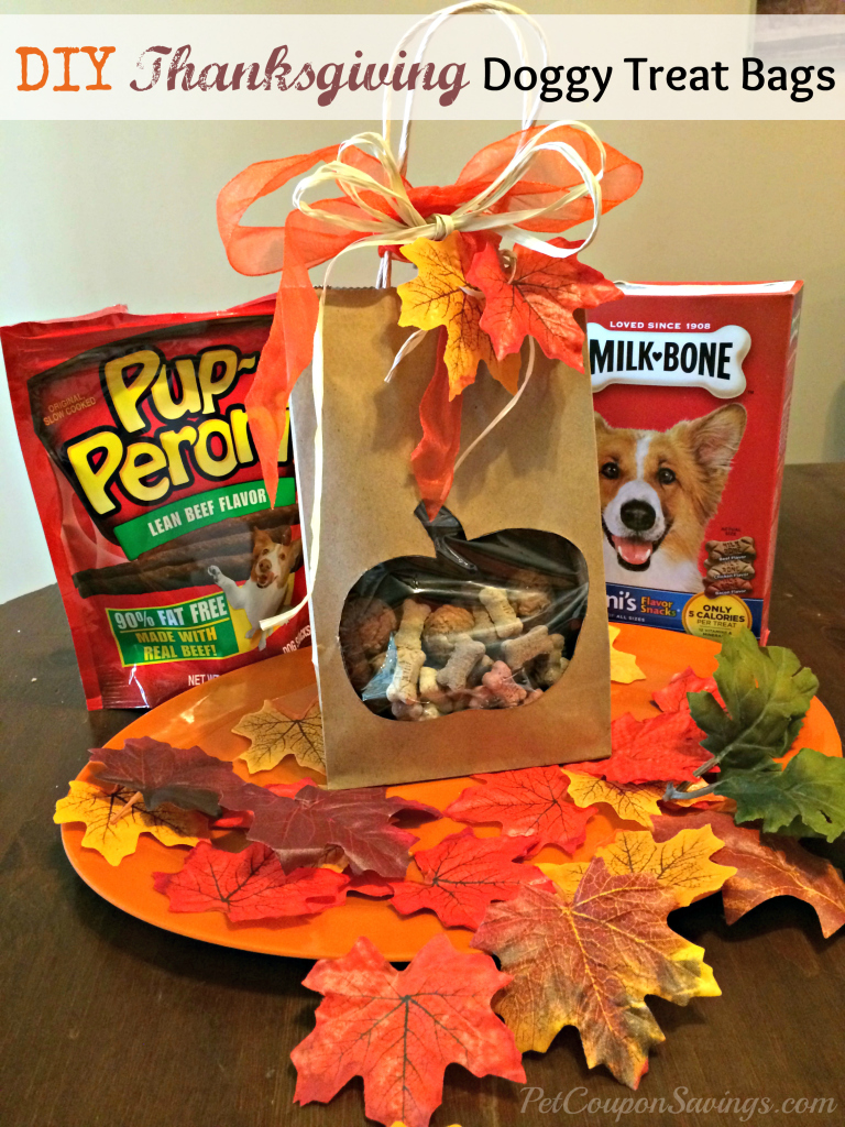 Easy DIY Thanksgiving Doggy Treat Bags