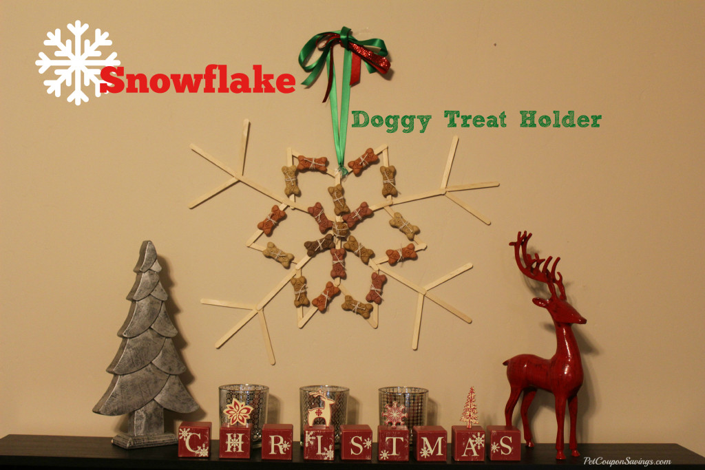 Snowflake Doggy Treat Holder