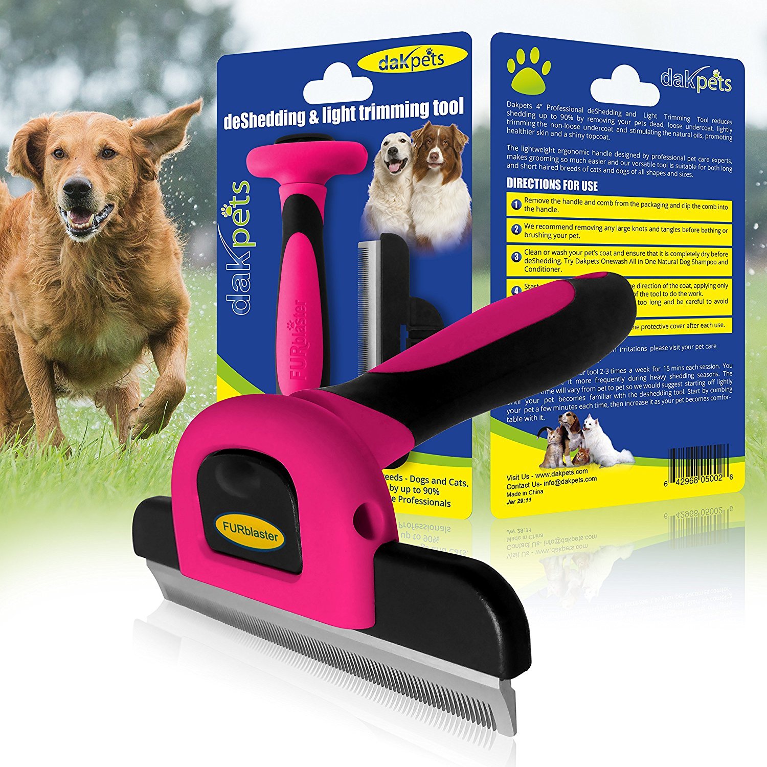 dog and cat deshedding tool