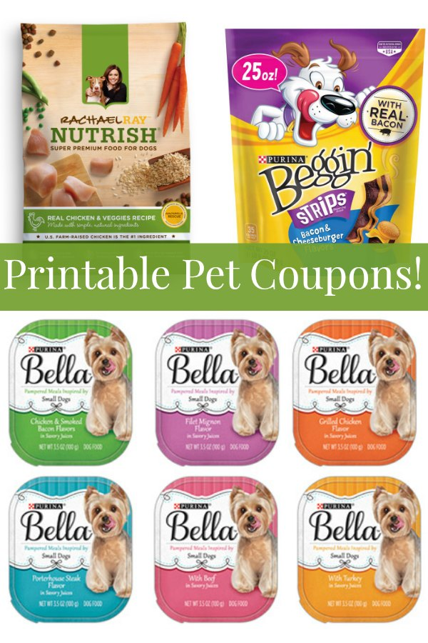 graphic regarding Printable Pet Coupons named Printable Canine Discount codes: Purina, Rachael Ray, Bella, Vita Bone